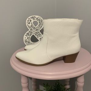 White leather boots from torrid